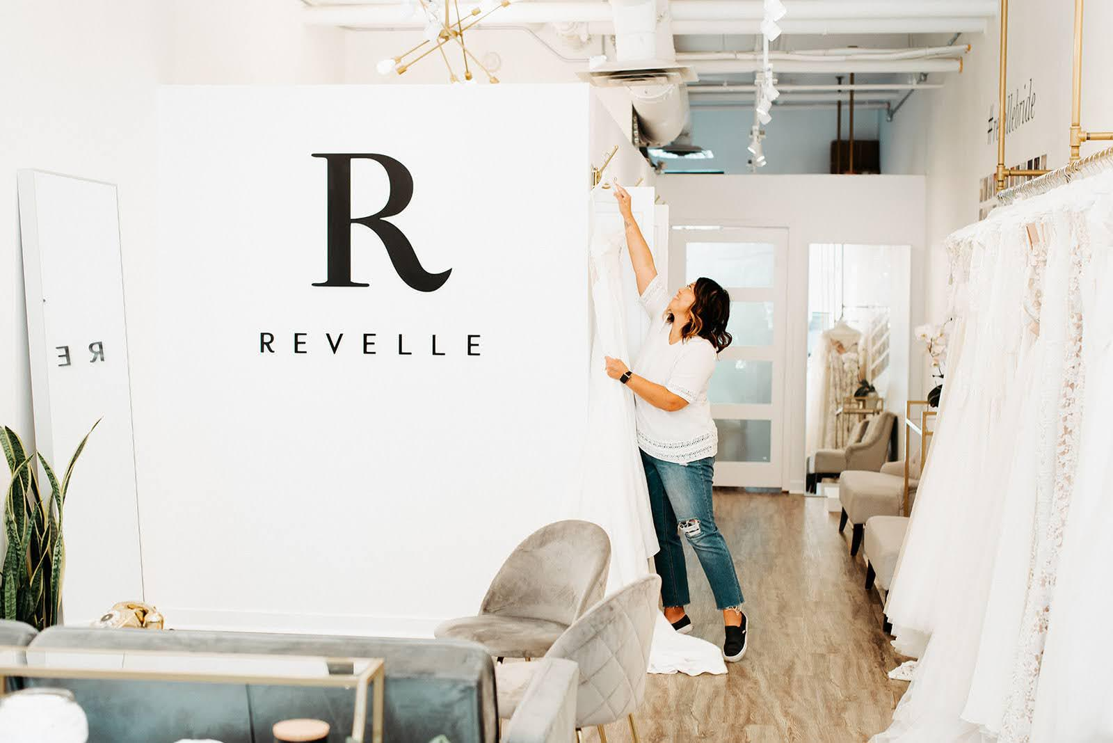 Revelle Bridal - Earleen Adjusting Dress - Photo Credit Laura Kelly Photography