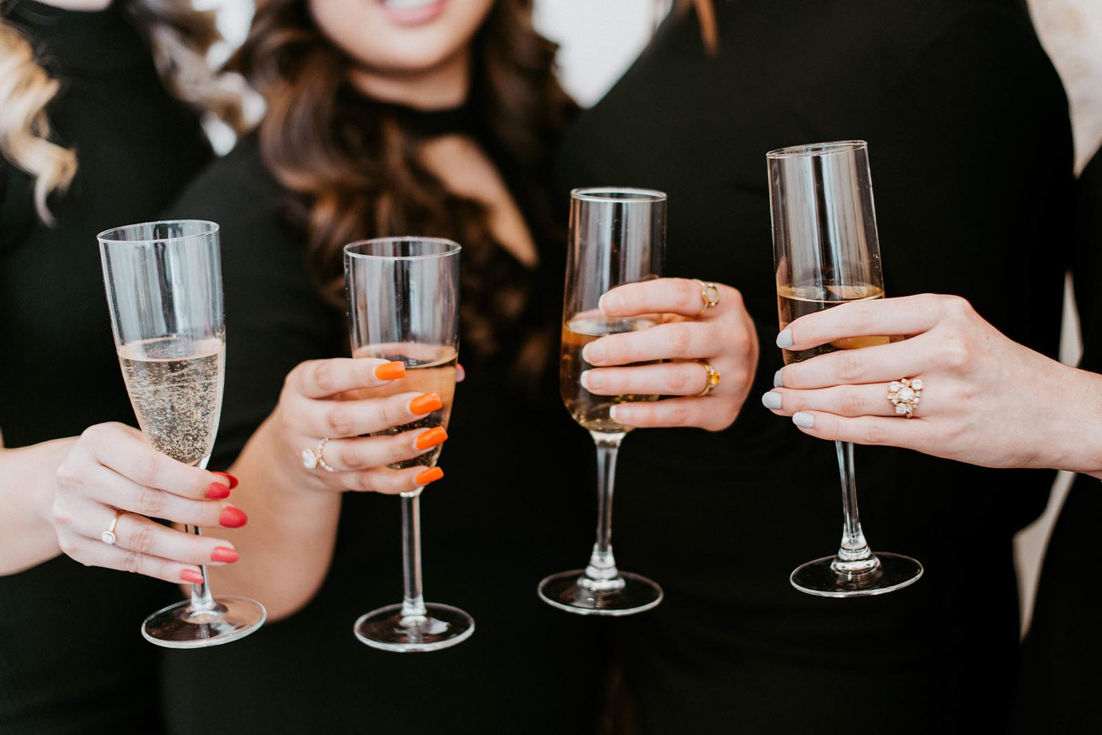 Revelle Bridal - Team Champagne Toast - Photo Credit Laura Kelly Photography